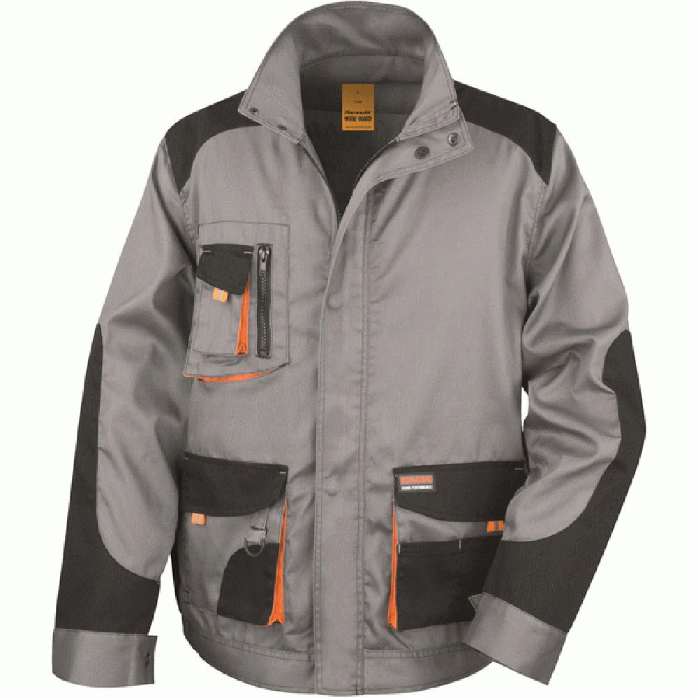 Personnalisation de Result Veste Lite Grey/Black/Orange ASR316X