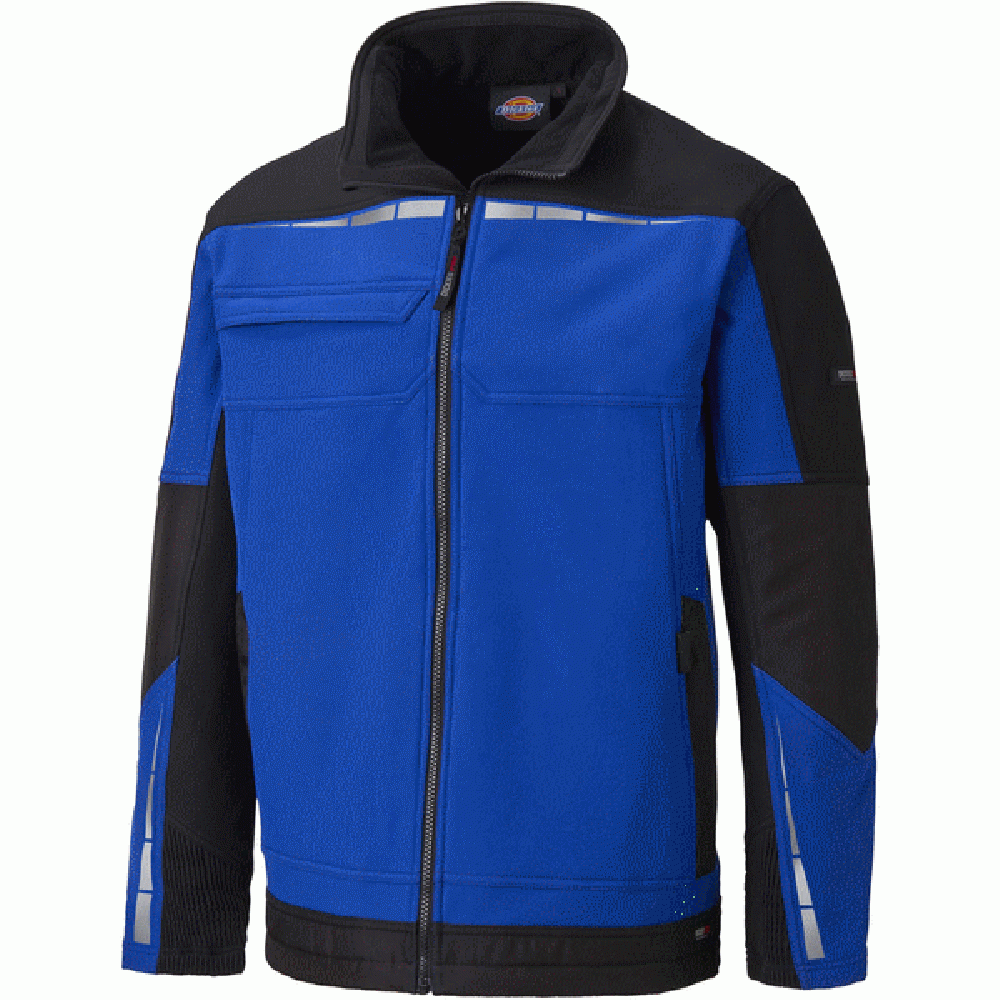 Aanpassing van Dickies Jacket Solfshell Royal Blue/Black ASDDP1001