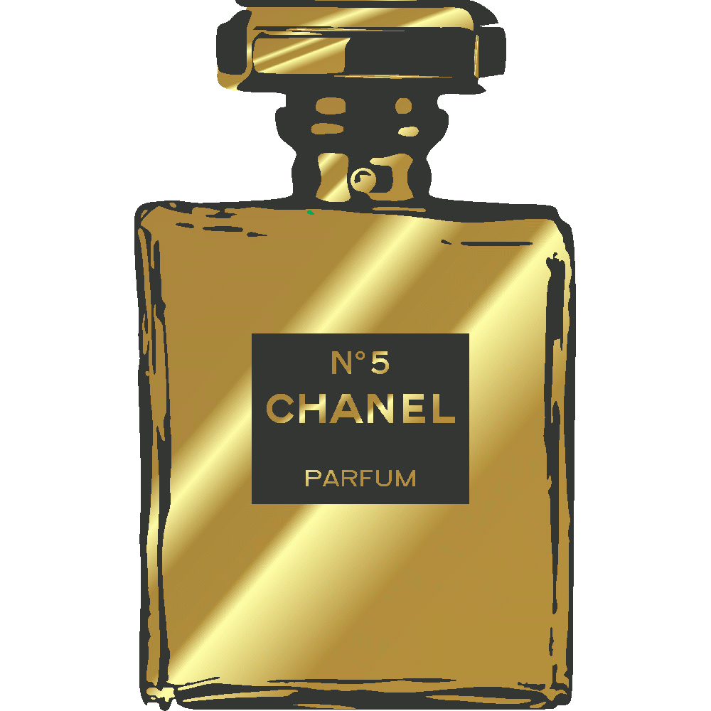 Personnalisation de Chanel Flacon Gold And Black - Imprimé
