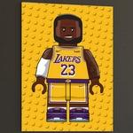 Affiche Lebron James Lego
