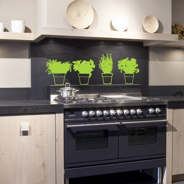 Example of wall stickers: 4 Aromatic Herbs