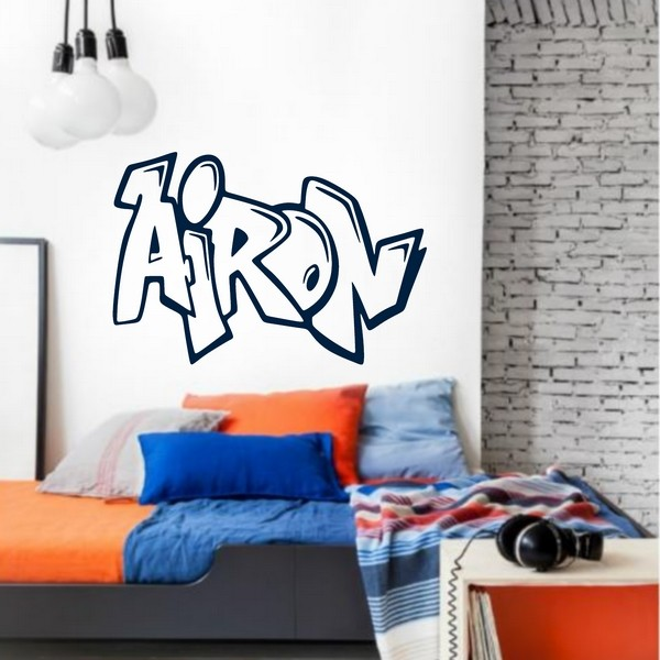 Exemple de stickers muraux: Airon Graffiti