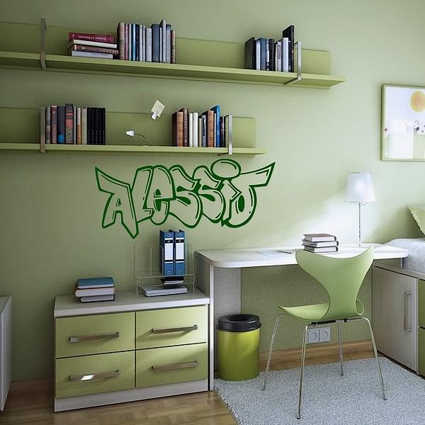 stickers stickers chambre ado alessio graffiti art stick. Black Bedroom Furniture Sets. Home Design Ideas