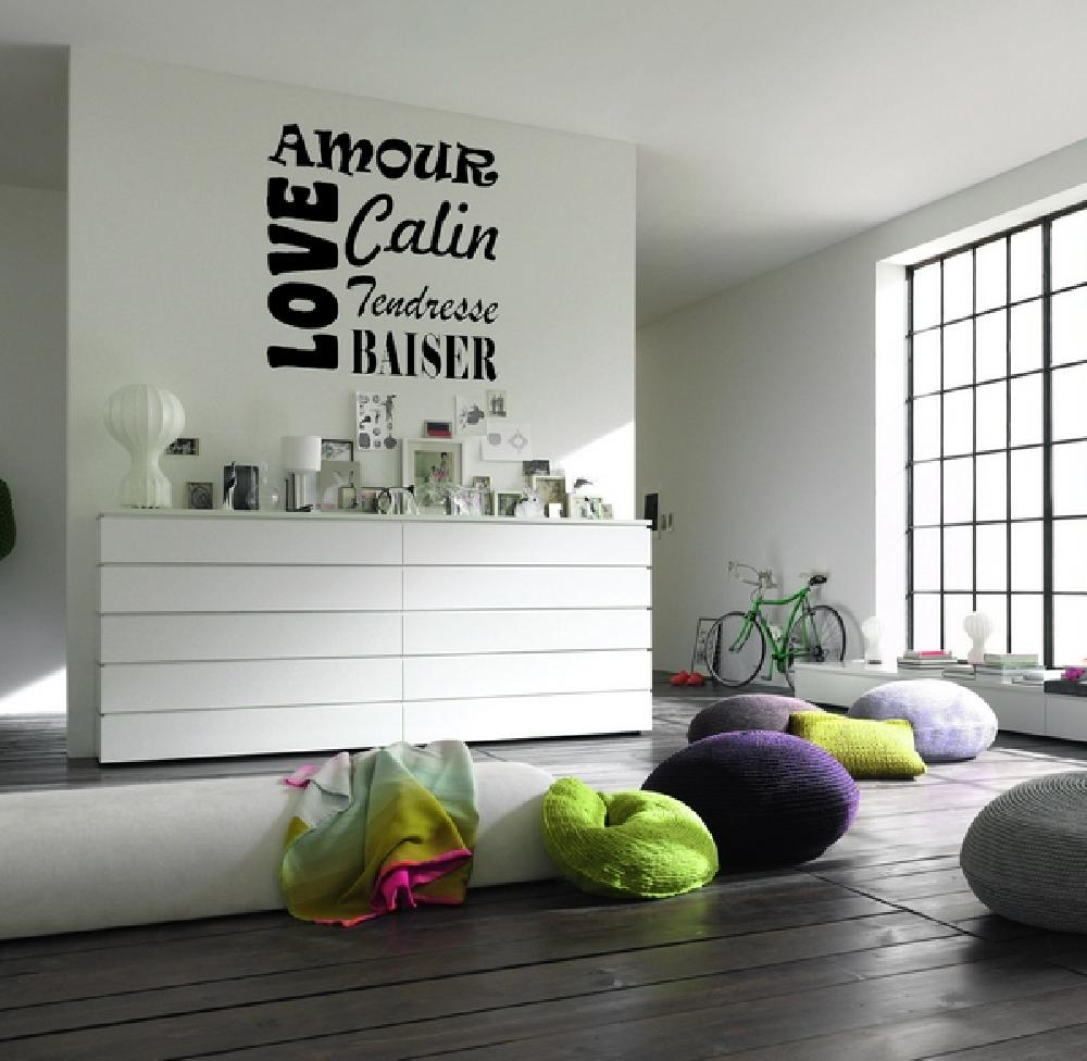Stickers stickers chambre ado carre d 39 amour art stick for Stickers chambre love