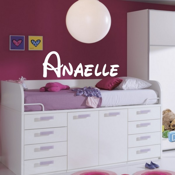 Exemple de stickers muraux: Anaelle Disney