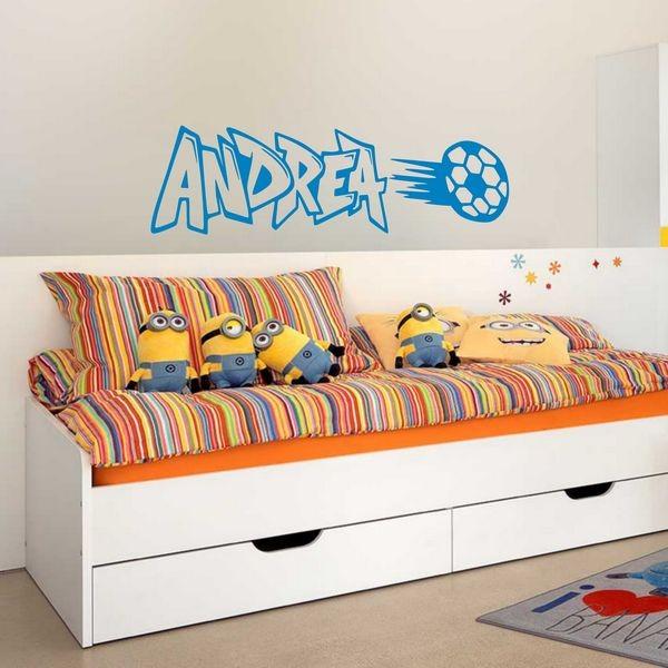 Stickers Andrea Graffiti Football Art Stick