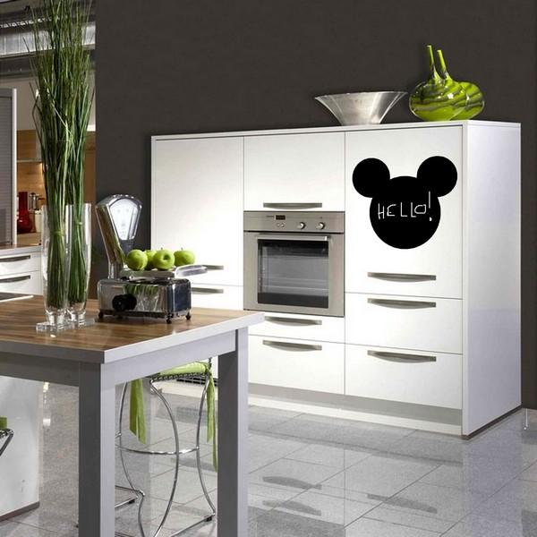 stickers stickers cuisine ardoise mickey art stick. Black Bedroom Furniture Sets. Home Design Ideas
