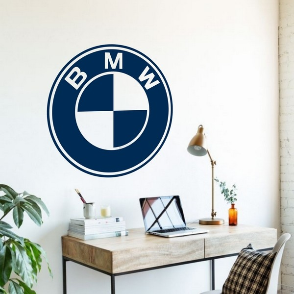 Exemple de stickers muraux: BMW Logo