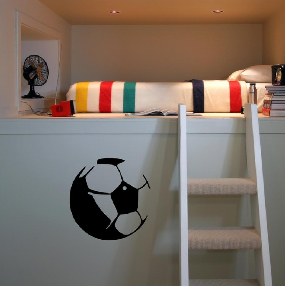 stickers stickers chambre enfant ballon de foot art stick. Black Bedroom Furniture Sets. Home Design Ideas