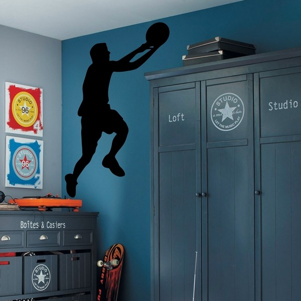 Exemple de stickers muraux: Basket Lay-up