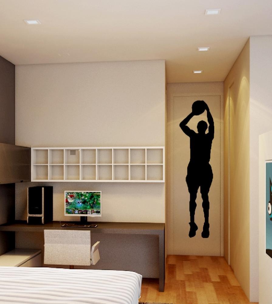 stickers stickers chambre ado basket shoot 1 art stick. Black Bedroom Furniture Sets. Home Design Ideas