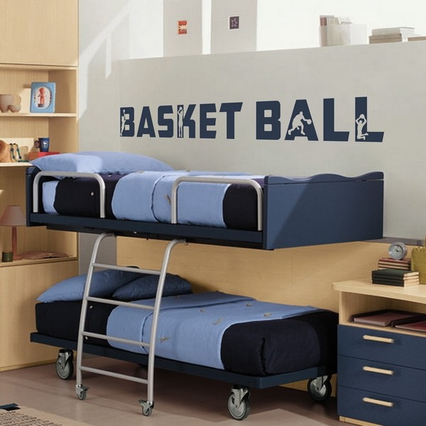 Stickers stickers chambre enfant basket ball texte art stick - Deco basketball chambre ...