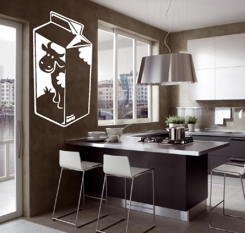 stickers stickers cuisine brique de lait art stick. Black Bedroom Furniture Sets. Home Design Ideas
