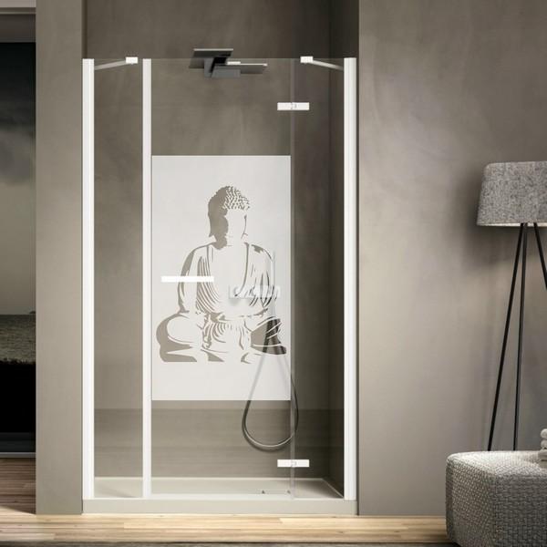 stickers brise vue bouddha art stick. Black Bedroom Furniture Sets. Home Design Ideas