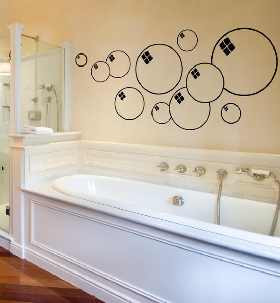 Salle De Bain Sol Marbre Noir ~ stickers stickers salle de bain bulles de savon art stick