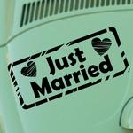 Just Married - Plaque