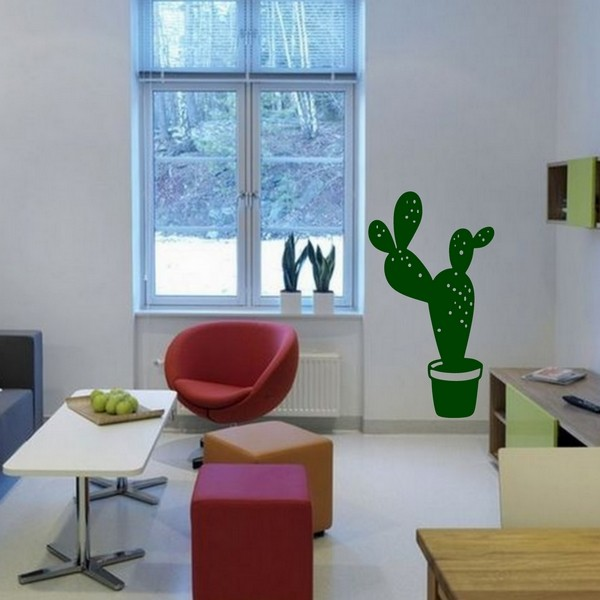 Exemple de stickers muraux: Cactus
