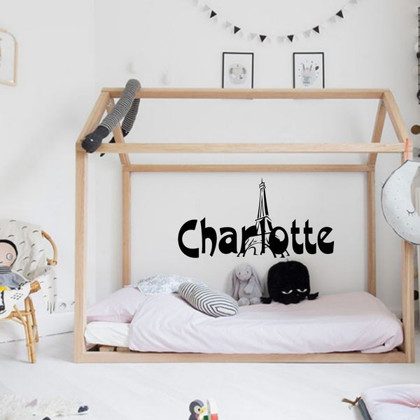 Exemple de stickers muraux: Charlotte Paris