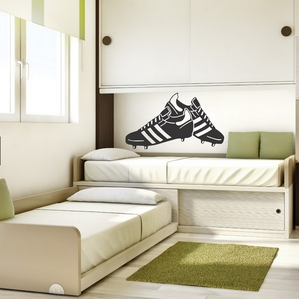 Stickers stickers chambre ado chaussures de foot art stick for Stickers chambre ado