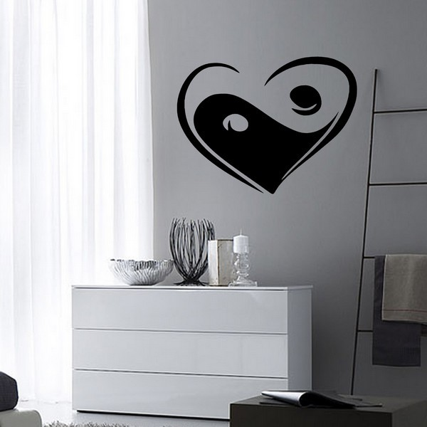 Stickers stickers zen coeur ying yang art stick for Meuble ying yang