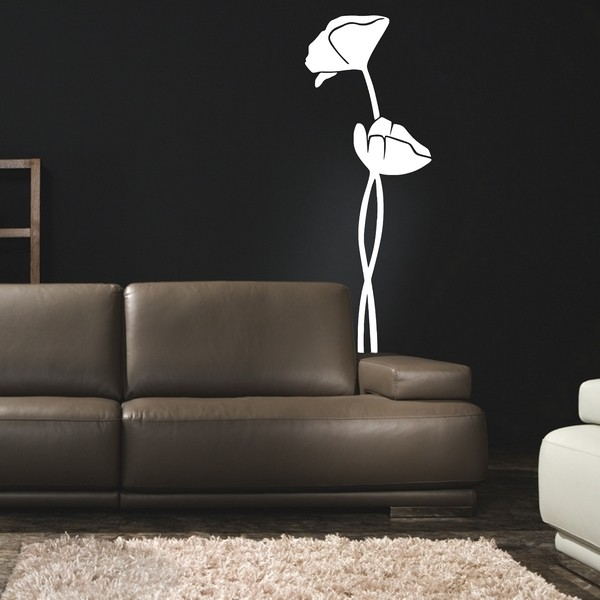 Example of wall stickers: Coquelicot C