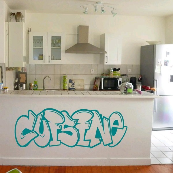 Exemple de stickers muraux: Cuisine Graffiti