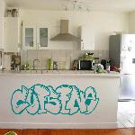 Exemple de stickers muraux: Cuisine Graffiti (Thumb)