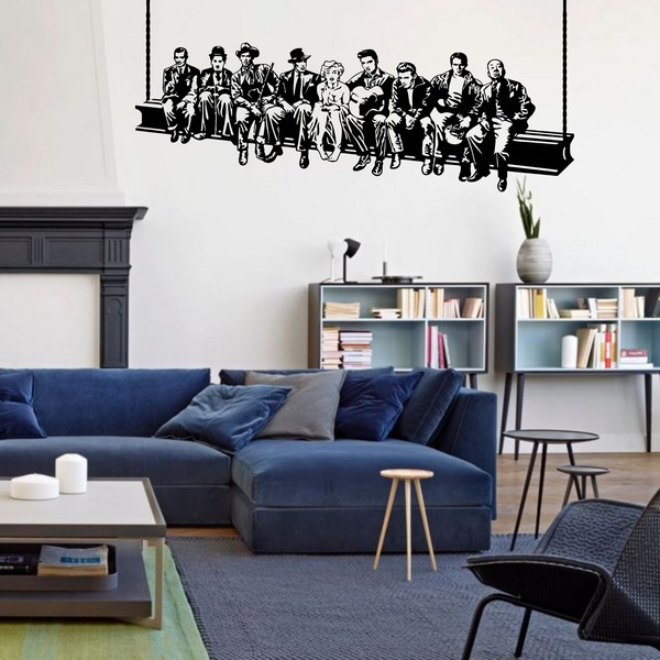 Example of wall stickers: Breakfast in Hollywood