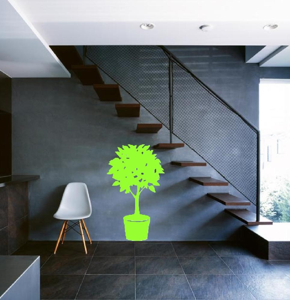 Exemple de stickers muraux: Ficus en pot
