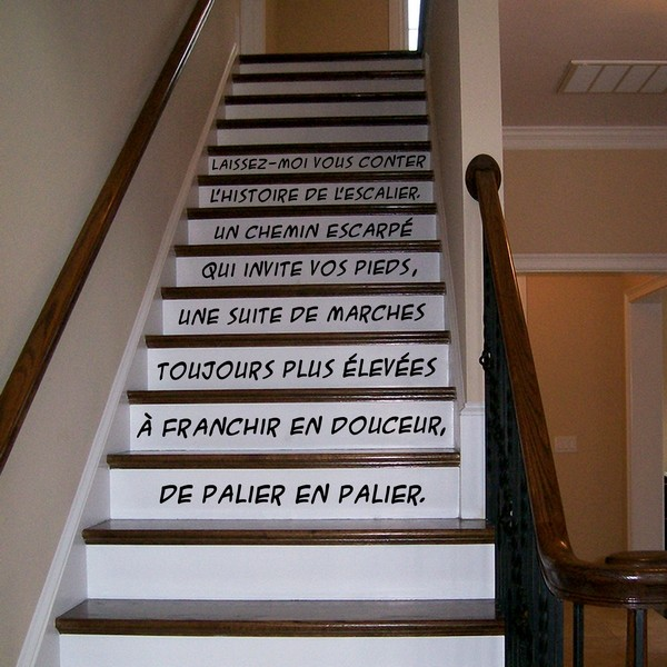 stickers l 39 escalier art stick. Black Bedroom Furniture Sets. Home Design Ideas
