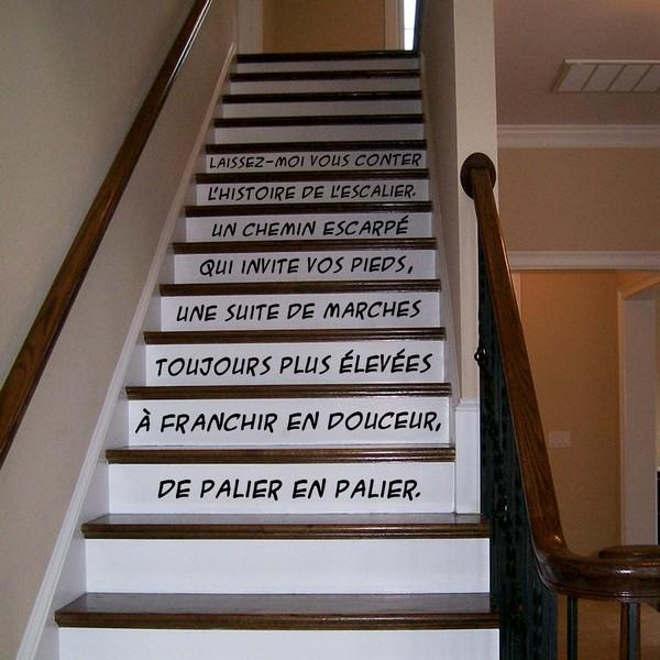 stickers l 39 escalier art stick. Black Bedroom Furniture Sets. Home Design Ideas