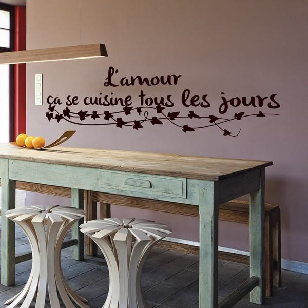 stickers l'amour ça se cuisine 2 - art & stick