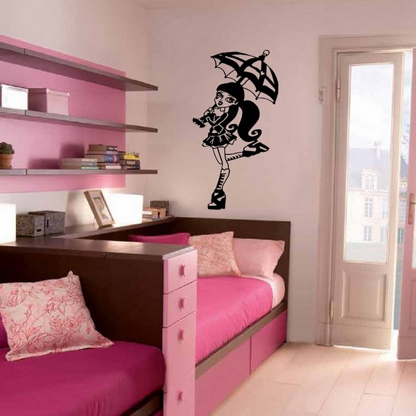 Accessoire de chambre monster high id e for Stickers monster high pour chambre