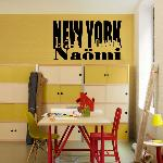 Exemple de stickers muraux: Naömi NY in letters (Thumb)