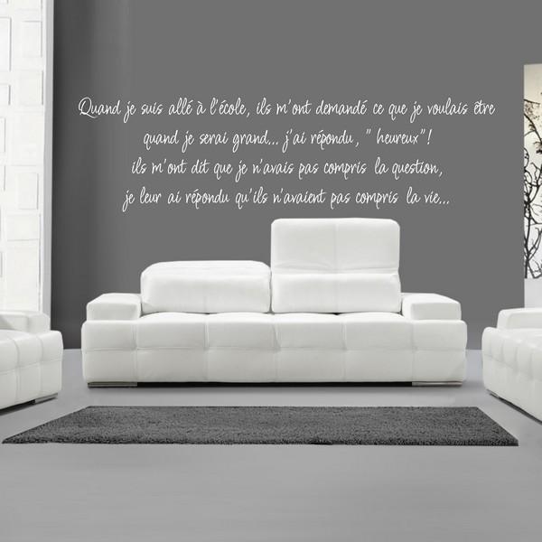 stickers news quand je suis all a l 39 cole art stick. Black Bedroom Furniture Sets. Home Design Ideas