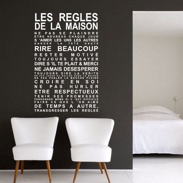 stickers r gles de la maison art stick. Black Bedroom Furniture Sets. Home Design Ideas