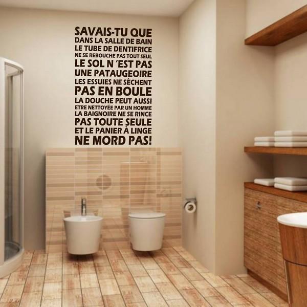 Emejing Stickers Salle De Bain Texte Images - House Design ...