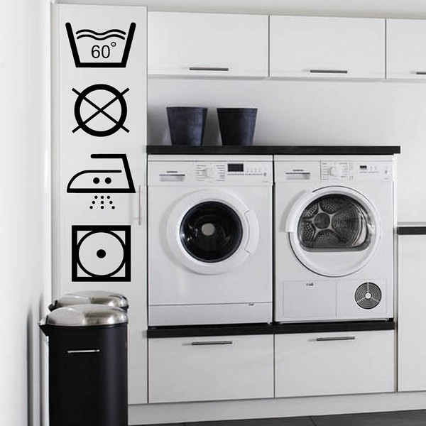 stickers nouveautes sigles de lavage art stick. Black Bedroom Furniture Sets. Home Design Ideas