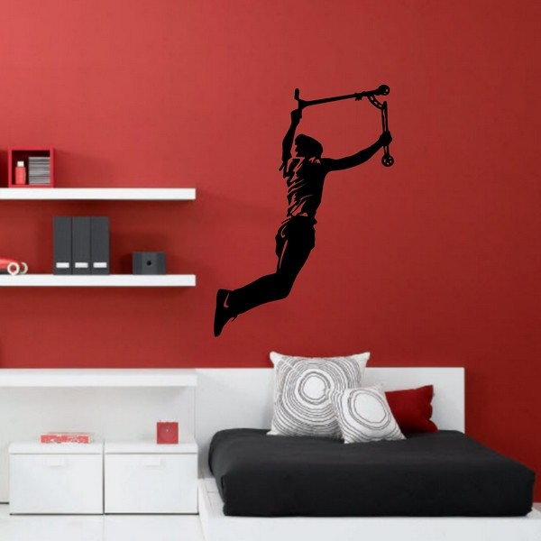 Example of wall stickers: Scooter Freestyle