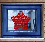 Example of wall stickers: Christmas - Star Wishes (Thumb)