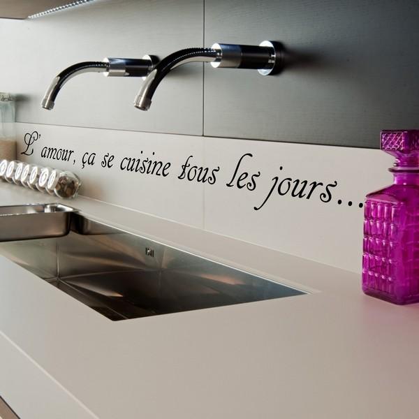 stickers l'amour ça se cuisine 3 - art & stick