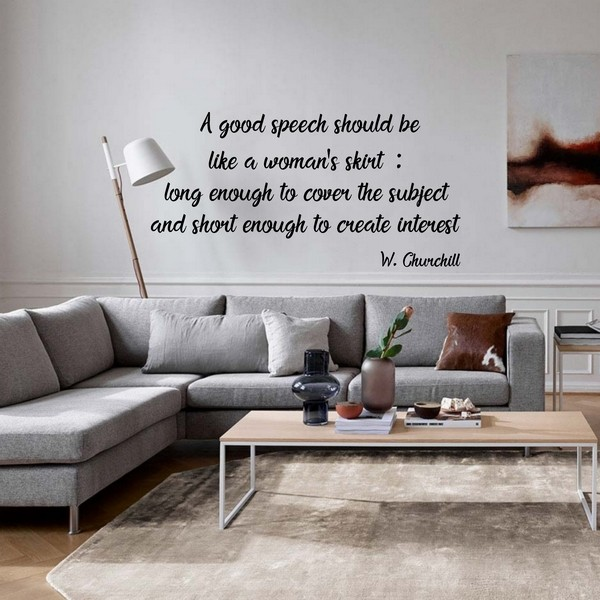 A good speech...