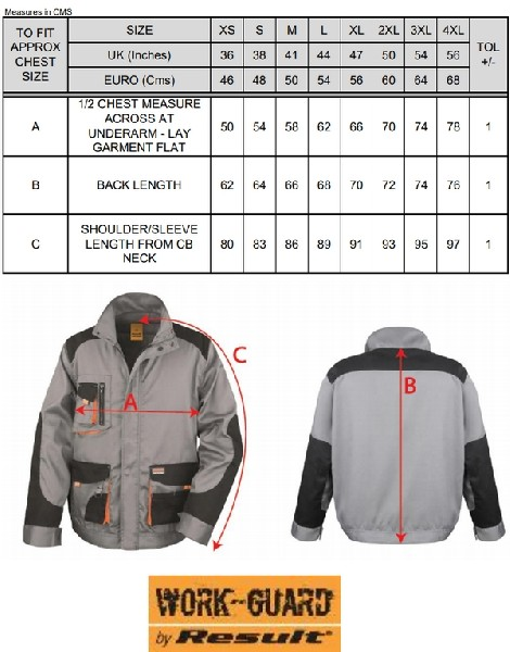 Result Veste Lite Grey/Black/Orange ASR316X